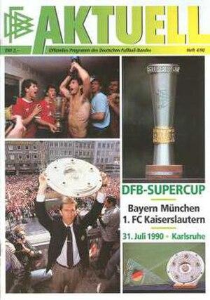 1990 DFB-Supercup - Image: 1990 DFB Supercup programme