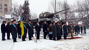 6th Army Corps (Ukraine) - Personnel of the Ukrainian 6th Army Corps mark the 65th anniversary of the creation of its predecessor, the 6th Guards Tank Army.