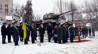 6th Guards Tank Army - Personnel of the Ukrainian 6th Army Corps mark the 65th anniversary of the creation of its predecessor, the 6th Guards Tank Army.