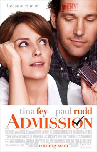 Admission (film) - Theatrical release poster