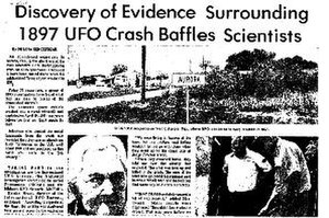 Aurora, Texas, UFO incident - A newspaper clipping on the incident.