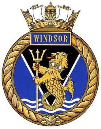 HMCS Windsor - Image: Badge of HMCS Windsor (official)