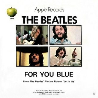 "For You Blue - Image: Beatles ""For You Blue"" US picture sleeve"