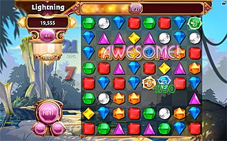 Bejeweled 3 - Lightning Mode follows the elements of Bejeweled Blitz.