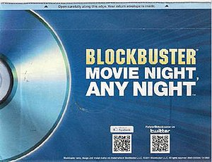 DVD-by-mail - Blockbuster envelope