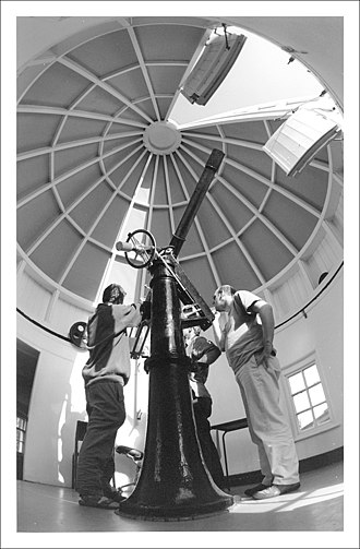 Thomas Cooke (machinist) - Thomas Cooke refractor in Bootham School Observatory