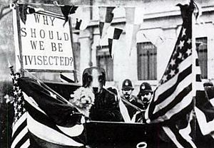 Lizzy Lind af Hageby - London, July 1909, protest organized by Lind af Hageby