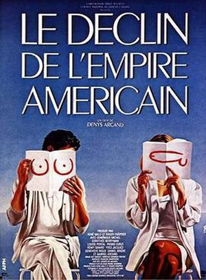 The Decline of the American Empire - French-language film poster