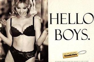 d4fb53505 Landmark 1994 ad for Wonderbra featuring Czech model Eva Herzigová