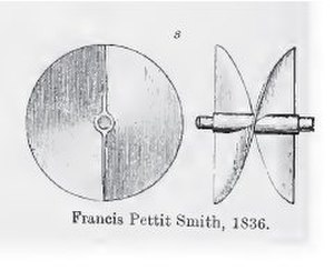 Steamship - Francis Pettit Smith 1836 patent for his propeller design originally fitted to the Archimedes.