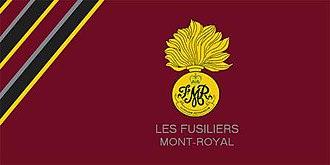 Les Fusiliers Mont-Royal - The camp flag of Les Fusiliers Mont-Royal.