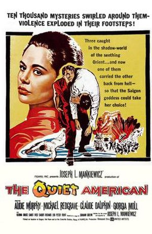 The Quiet American (1958 film) - Theatrical release poster