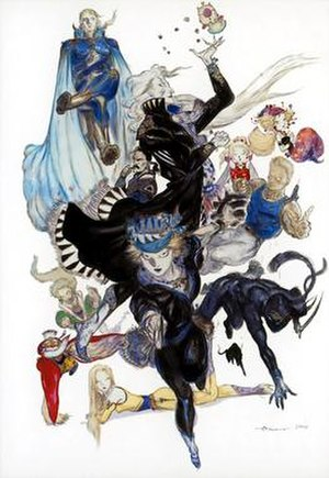 Recurring elements in the Final Fantasy series - Image: Final Fantasy VI cast by Yoshitaka Amano