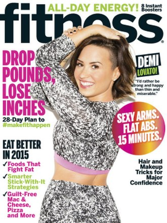 Fitness (magazine) - Cover of the January 2015 issue of Fitness featuring Demi Lovato