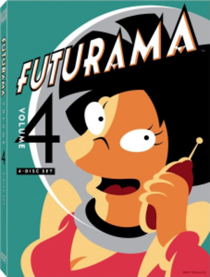 Futurama (season 4) - DVD cover for the 2012 re-release of Volume Four