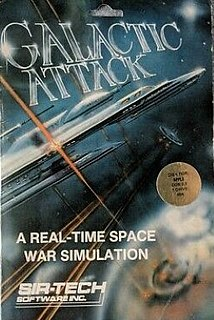 <i>Galactic Attack</i> video game for the Apple II computer