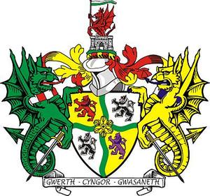 Glyndŵr - Arms of Glyndwr District Council