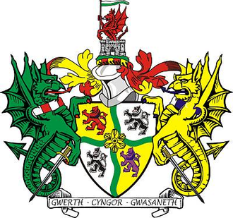 Glyndŵr - Arms of Glyndwr District Council