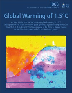 Special Report on Global Warming of 1.5 °C special climate change report published by the Intergovernmental Panel on Climate Change