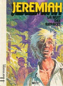 The cover from Jeremiah #1, La nuit des rapaces (April 1979)