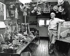 John Philip Falter - John Falter in his studio, photographed in 1978 by his stepson, Jay Wiley.