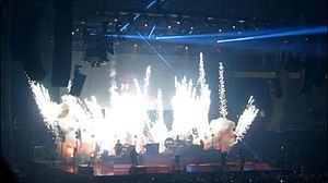 "Battle Born World Tour - Pyrotechnics during ""Miss Atomic Bomb"""