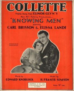 <i>Knowing Men</i> 1930 film by Elinor Glyn