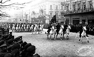 History of Lviv - Red Army cavalry entering Lviv, 1939