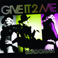 Three vertical, side-by-side pictures of Madonna, wearing a black sheer top and black panties, and a black hat.
