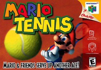 Mario Tennis - North American box art