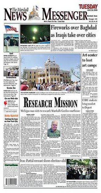 The Marshall News Messenger - Image: Marshall News Messenger front cover