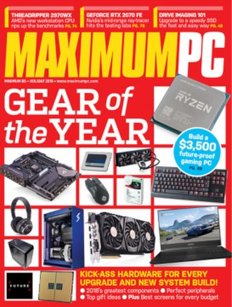 Maximum PC - Holiday 2018 cover