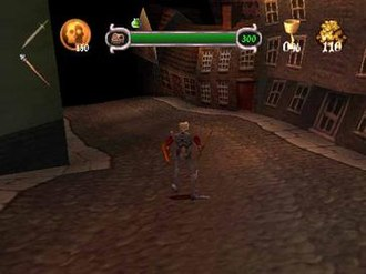 MediEvil 2 - A still image from the second level of the game. MediEvil 2 features various locations in Victorian-era London