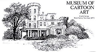 National Cartoon Museum - Illustration of the museum during its Port Chester era.