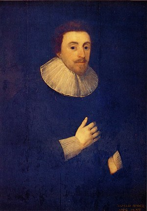 Nicholas Ferrar - Nicholas Ferrar, from a portrait by Cornelius Janssens, the original of which hangs in Magdalene College, Cambridge, alongside those of his parents.