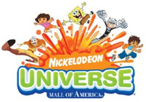 Nickelodeon Universe - Original Nickelodeon Universe logo (2008–2010).