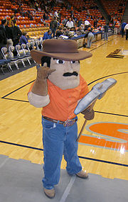 UTEP's latest version of Paydirt Pete, taken at a Men's Basketball pre-game.