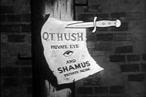 Q. T. Hush - Title screen for Q.T. Hush.