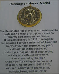 A picture of the Remington Medal.