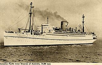SS De Grasse - Image: RMS Empress of Australia Canadian Pacific Steamships postcard
