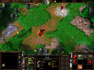 Warcraft III: Reign of Chaos - A screenshot of Warcraft III: Reign of Chaos campaign.