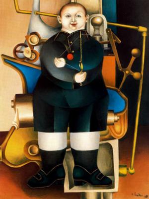 Richard Lindner (painter) - Boy with Machine (1954)