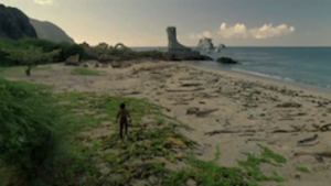 Ab Aeterno - In his flashback, Richard (Nestor Carbonell) heads to the recently destroyed statue to kill Jacob.