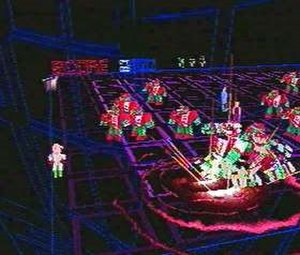 Robotron: 2084 - The sequel Robotron X features gameplay similar to the original, but with three-dimensional graphics.
