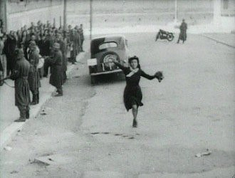 Italian neorealism - A still shot from Rome, Open City (1945).