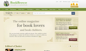 BookBrowse - Image: Screenshot of Book Browse homepage