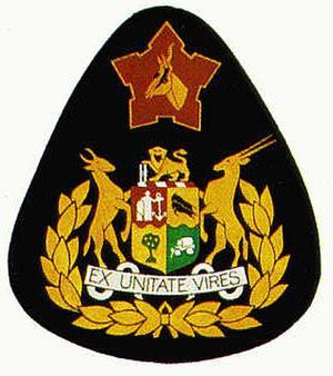 Sergeant Major of the Army (South Africa) - Image: Sgt Major of the Army (SADF) insignia