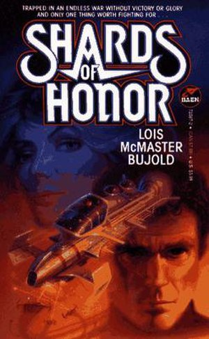 Vorkosigan Saga - Cover of Shards of Honor, the first book in the series.