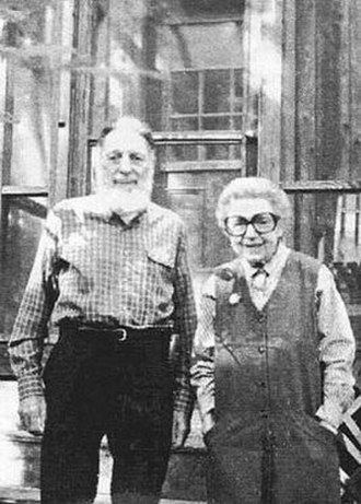 Studio cards - The first studio cards were created in 1946 by Fred Slavic and Rosalind Welcher, seen here in 2002 at their Mount Monadnock home in New Hampshire.