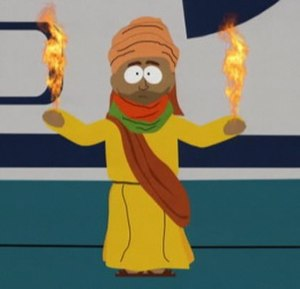"201 (South Park) - An image of the Muslim prophet Muhammad was shown in the 2001 episode ""Super Best Friends"", but was censored from the 2006 episode ""Cartoon Wars Part II"" due to the Jyllands-Posten Muhammad cartoons controversy. This change in Comedy Central's broadcast policy was mocked in the episode ""200"", which led to further censorship in ""201""."